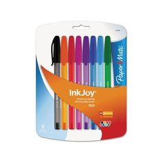 Paper Mate InkJoy Medium-Point Colored Ink Pens, 8-Pack Walmart.com