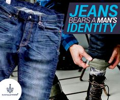 What is a man's identity without his jeans? Try out the Blue Line Slim. His Jeans, Be A Man, Denim Branding, Blue Line, Identity, Slim, Personal Identity