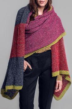 Decke oder Schal? Wir nennen es Plaid... Kostenlose Anleitung unter www.initiative-handarbeit.de