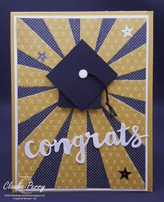 Stamping in Columbus, GA: Swap Cards - Theme: Congratulations, Graduation, Sunshine Wishes Thinlit, Stampin' Up