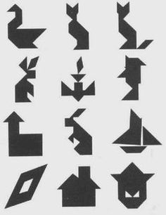 Tangram shapes are great for developing visual thinking skills!