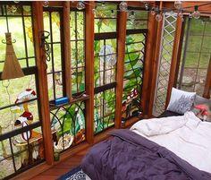 @neilecooper makes incredible glass art Windows #treehouseclub