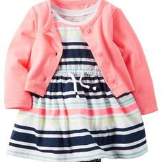 Carter's Baby Girls' 2-Piece Dress and Cardigan Set * Trust me, this is great! Click the image. : Baby clothes