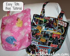 Easy to follow Tote Bag Tutorial: Perfect for Beginner Sewers