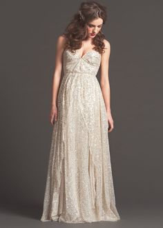 Silver Sequin wedding dress from the Sarah Seven Fall 2013 Collection
