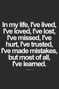 ... and I continue to learn every day.