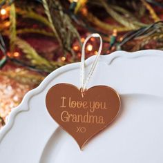 A thoughtful Christmas gift for Grandma from her grandchild. I love you Grandma. Christmas Gifts For Grandma, Thoughtful Christmas Gifts, Merry Christmas To You, Thoughtful Gifts, Christmas Holidays, Christmas Ornaments, Grandmother Gifts, Grandmothers, Mr And Mrs Wedding