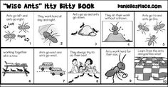 """""""Wise Ant"""" Itty Bitty Book for Sunday School from www.daniellesplace.com"""