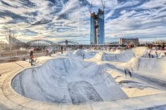 Awesome skatepark in Frankfurt, Germany.    #skateboard #skateparks #skateboarding