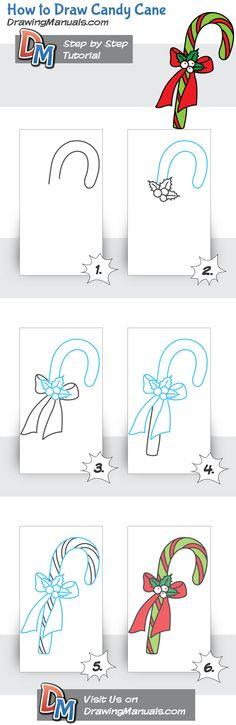 How to Draw Candy Cane https://play.google.com/store/apps/details?id=com.aku.drawissimo
