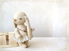Artist Teddy Bunny Nadenyka OOAK ligth beige by zverrriki on Etsy, Sweet Little Things, Cute Stuffed Animals, Love Bear, Soft And Gentle, Handmade Toys, Doll Toys, Fabric Crafts, Etsy Seller, Rabbit