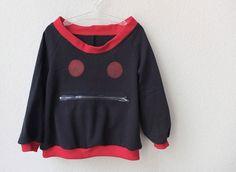 Pullover Wahhhh mit Tasche und Augen Sweatshirt von svantjeshop, €29,80