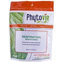 Tisane Respiration 25 sachets - 37.5 g Référence : 008536 #Hiver #Québec #thé #Santé #Québec