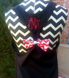 Monogrammed Workout Tank with Bow by LetItBeBoutique on Etsy, $18.00