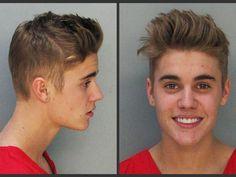Justin Biber arrested for street racing in his yellow Lamborghini.
