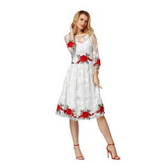 dd30a6ae393ae7 In the summer of 2017 the most popular fashion elegant lady round collar  lace dress Free package mail