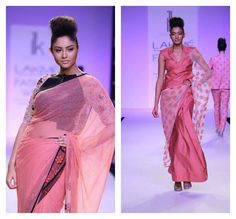 pink saree fashion week - Google Search