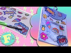 "Como Hacer Cuaderno-Mochila con ""Parches"" Retro //Floritere - YouTube"