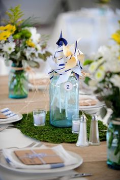 Ideas for Table Names and Numbers , Wedding Reception have guests put their placecards in the bottle maybe