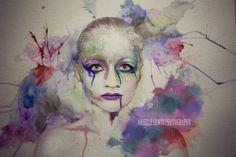 Photography, watercolor, Arielle Lewis, creative portrait