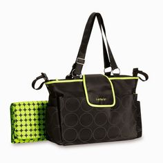 Always be prepared with your Out and About diaper bag by Carter's®. This tonal dot diaper bag has a sleek outside with multiple broad pockets on the front, back and sides. Boy Diaper Bags, Black Diaper Bag, Best Diaper Bag, Black Tote Bag, Baby Boy Toys, Carters Baby Boys, Baby Baby, Baby Lux, Bags 2015