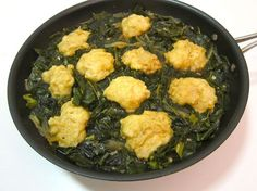 Lightened Up Southern Inspired Collards With Cornmeal Dumplings