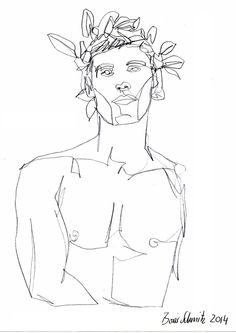 "borisschmitz: ""Gaze 81"", one-continuous-line-drawing by Boris Schmitz, 2014 Click »HERE« if you want to see my portfolio!"