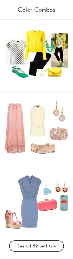 """""""Color Combos"""" by sassyladies ❤ liked on Polyvore featuring Old Navy, J.Crew, Roberto Collina, French Connection, Rivka Friedman, Repetto, Accessorize, James Lakeland, MICHAEL Michael Kors and 100% Pure"""