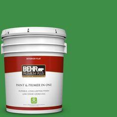 BEHR Premium Plus 5 gal. #P390-7 Park Picnic Zero VOC Flat Interior Paint