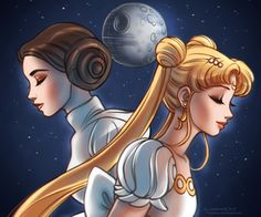 Sailor Moon x Princess Leia crossover Sailor Moons, Sailor Moon Tumblr, Sailor Moon Art, Sailor Moon Cosplay, Dreamworks, Crossover, Pixar, Pictures Of Princesses, Princesa Serenity