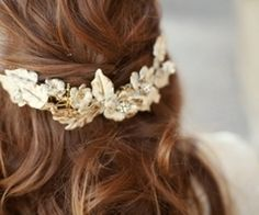I want a little crown of flowers for my wedding just like I did at my first communion!