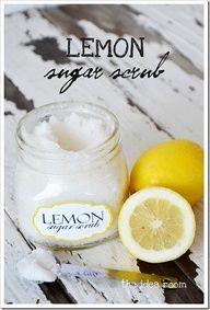 "Homemade Lemon Sugar Scrub Recipe via Amy Huntley (The Idea Room)"" data-componentType=""MODAL_PIN"
