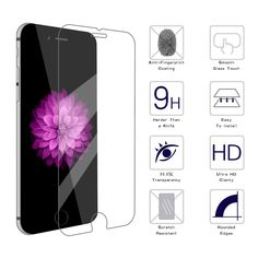 """50 pcs/lot For iPhone 6 6s 4.7"""" 2.5d 0.26 mm Premium Tempered Glass Screen Protector for iPhone 6 plus Toughened protective film"""