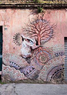 Beau Stanton street art, Rome, 2015