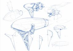 HAIRDRYER CONCEPT STUDY by Richard Vink, via Behance #id #product #sketch