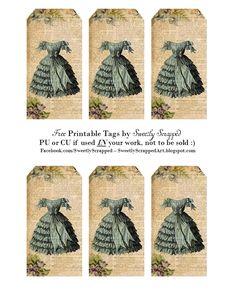 Sweetly Scrapped: Free Printable Vintage Dress Tags....