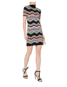 Missoni Zig Zag Short Sleeved Turtleneck Dress
