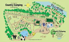 Campground Map - Country Camping Tent & RV Park - Isanti, MN 55040