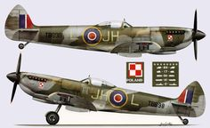 Polish Spitfires Aircraft Propeller, Ww2 Aircraft, Military Aircraft, Supermarine Spitfire, Ww2 Planes, Battle Of Britain, Royal Air Force, Nose Art, Model Airplanes