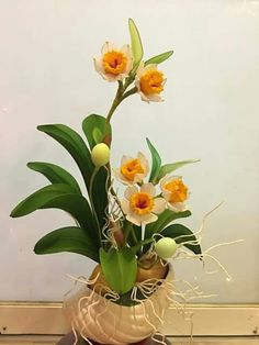 Nylon Flowers, Clay Flowers, Sugar Flowers, Paper Flowers, Purple Orchids, Chiffon Flowers, Craft Work, Landscaping Plants, Flower Tutorial