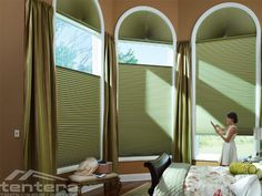Ideas For A Majestic Arch Window Blinds Movable