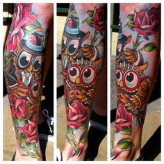 tattoome:    Goeke  LOVE AND HATE  PHX,AZ  http://www.tonygoeke.com/