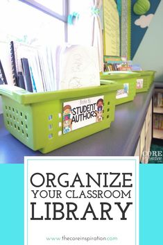 """Organizing your classroom library carefully can boost reading engagement and foster a more calm and efficient learning environment. In this post, I am answering a question I get a lot. """"How do you keep your classroom library so organized?"""" In hopes of saving you time when it comes to organizing your own library, I am going to share six tips that have made my classroom library one of our favorite and most organized corners of the classroom. #organizedclassroom #coreinspiration…"""