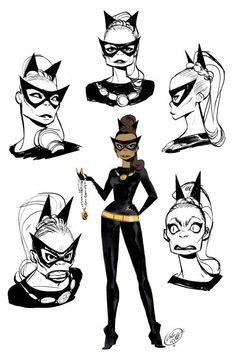 Batwoman, Batgirl, Eartha Kitt Catwoman, Comic Books Art, Comic Art, Harley Y Joker, Harley Quinn, Character Art, Character Design