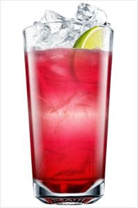 Seabreeze: 1 oz vodka (eg. Absolut), 2 oz cranberry juice, 2 dashes grapefruit juice,1 lime wedge Fill a glass with ice cubes.  Mix vodka and juices together and pour over ice. Garnish with lime.