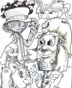 """Sketch - Poster 3 - história: """"Arteip e o medalhão de fogo"""" - feito por: Darci Campioti - visite meu blog: http://institutodeartesdarcicampioti.blogspot.com.br/"""