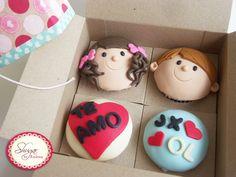 Cupcakes Pareja. Sitio Shugar By Andrea