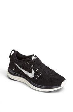 Nike 'Flyknit Lunar1+' Running Shoe (Women) | Nordstrom / black/white 7.5