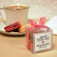 Mini cajitas de plástico transparente para galletas/macarons - Regalo agradecimiento