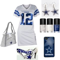 """Dallas Cowboys Diva Outfit!"" by verystylishnaturaldiva on Polyvore"